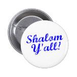 Shalom Y'all! Button