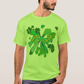 sham ROCK my WORLD Green St Pats Tshirt