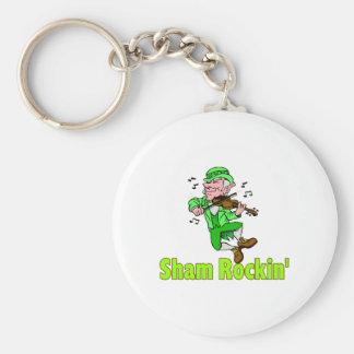 Sham Rockin Basic Round Button Key Ring