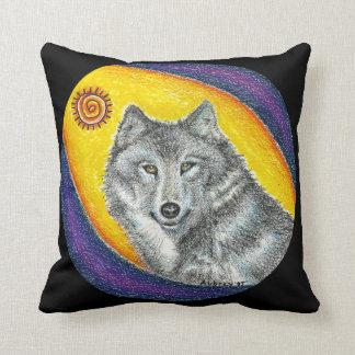 Shaman Healing Wolf Cushion