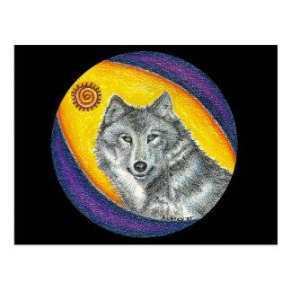 Shaman Healing Wolf Postcard