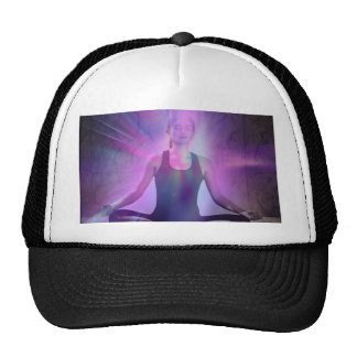 Shaman meditation yoga chakra zen chakra trucker hat