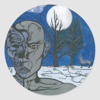 Shaman Shapeshifter Round Sticker
