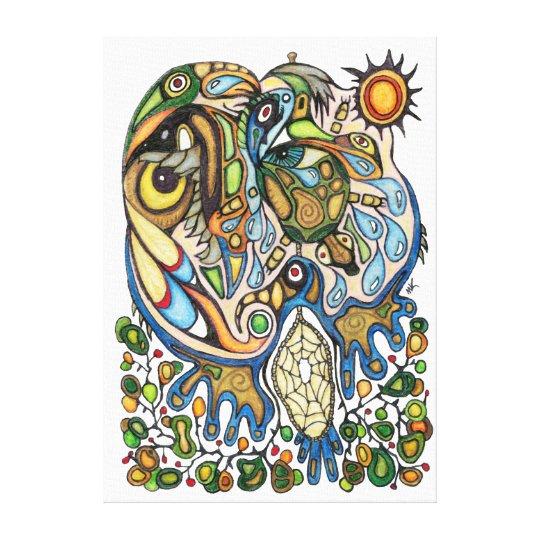 Shaman Spirit:  Dream of the Thunderbird (NORTH) Canvas Print