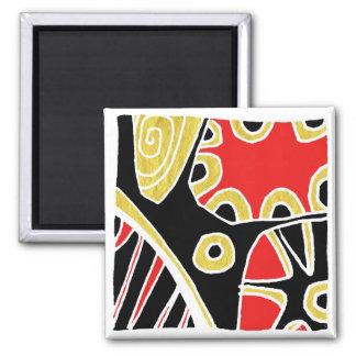shaman sun fridge magnet