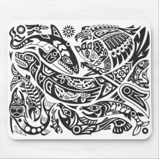 Shaman, Whale & Thunderbird Haida art Mouse Mat
