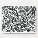Shaman, Whale & Thunderbird Haida art Mousepad
