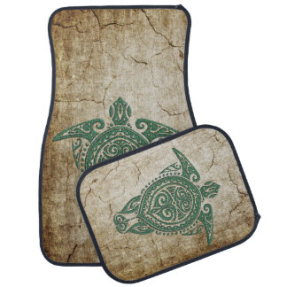 Shamanic Sea Turtle Symbol + your ideas Car Mat