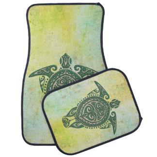 Shamanic Sea Turtle Symbol + your ideas Floor Mat