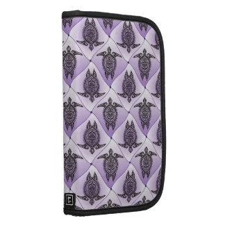 Shamanic Sea Turtles Pattern - violet Folio Planner