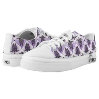 Shamanic Sea Turtles Pattern - violet + your idea Printed Shoes