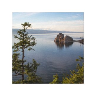 Shamanka Rock at Baikal Lake Canvas Print