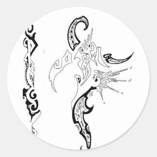 Shaman's dream round sticker