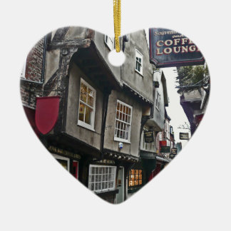 Shambles Street of York Ceramic Heart Decoration