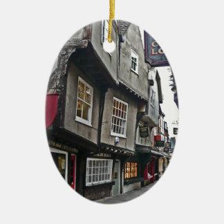 Shambles Street of York Ceramic Oval Decoration