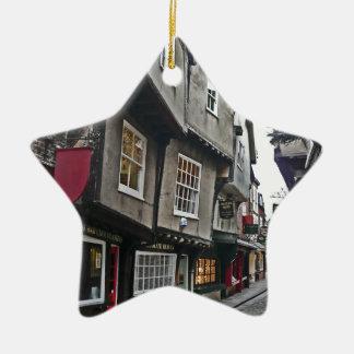 Shambles Street of York Ceramic Star Decoration