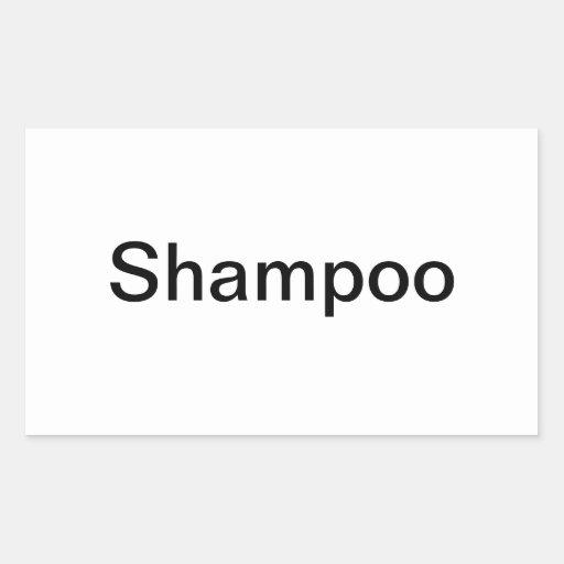 Shampoo Labels/ Sticker