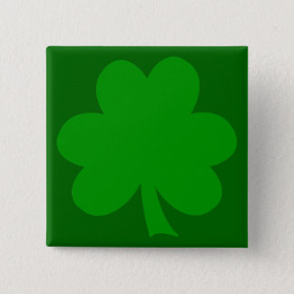 Shamrock 15 Cm Square Badge