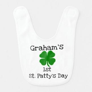 shamrock 1st st patty's day bib