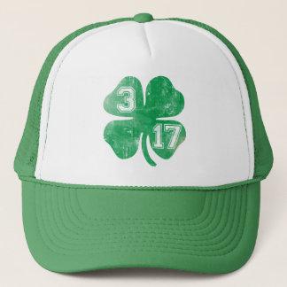 Shamrock 3/17 St Patricks Day Trucker Hat