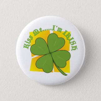 Shamrock 6 Cm Round Badge