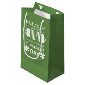 Shamrock and Beer Irish St Patrick's Day Small Gift Bag