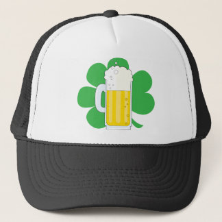Shamrock and Beer Trucker Hat