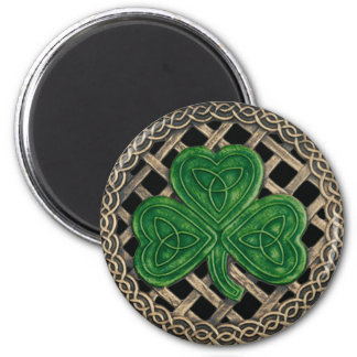 Shamrock And Celtic Knots Magnet Black