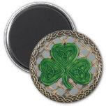 Shamrock And Celtic Knots Magnet Grey