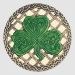 Shamrock And Celtic Knots Stickers Beige