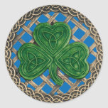 Shamrock And Celtic Knots Stickers Blue