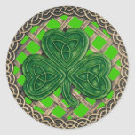 Shamrock And Celtic Knots Stickers Green