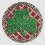 Shamrock And Celtic Knots Stickers Red