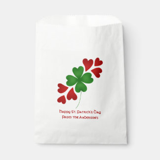 Shamrock and hearts favour bags