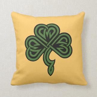 shamrock and irish blessing cushion