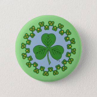 Shamrock and Knotwork 6 Cm Round Badge