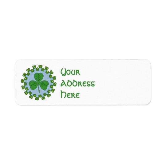 Shamrock and Knotwork Return Address Label