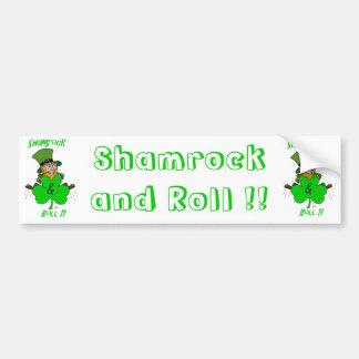Shamrock and Roll Bumper Sticker