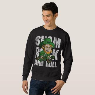 Shamrock and Roll Leprechaun Guitar Sweatshirt