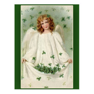 Shamrock Angel St. Patrick's Day Cards Post Card