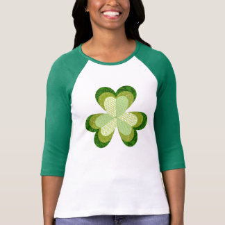 Shamrock Applique Baseball Tee