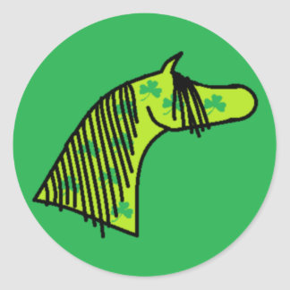 Shamrock Arabian Classic Round Sticker