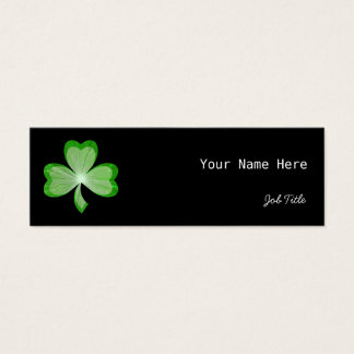 Shamrock Black business card side skinny