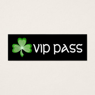 Shamrock Black 'VIP PASS' business card skinny