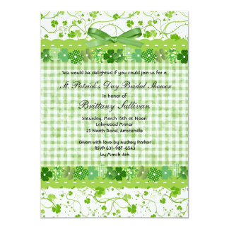 Shamrock Border Invitation