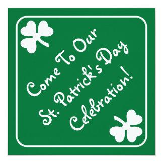 Shamrock Border St. Patrick's Day Invitation Card
