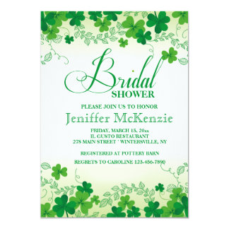Shamrock Borders Invitation