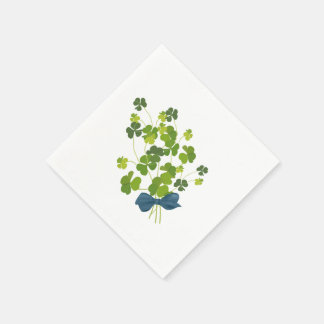 Shamrock bouquet, st patrick's day paper serviettes