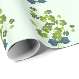Shamrock bouquet, st patrick's day wrapping paper