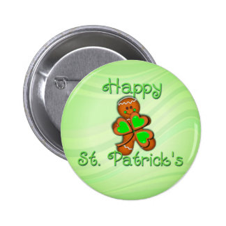 SHAMROCK BOY HAPPY ST PATRICKS by SHARON SHARPE Buttons